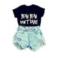 S/M/L 2016 new sexy hot black white color summer clothing cropped women girls lettter printed tops funny t shirts punk fashion (Size: M, Color: Black) [8789878791]