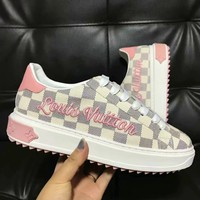 LV Louis Vuitton tide brand fashion wild retro embroidery platform women's sneakers #2