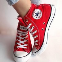 Converse Fashion Casual Running Canvas Flats Sneakers Sport Shoes red