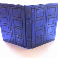 River Song Tardis inspired journal polymer clay
