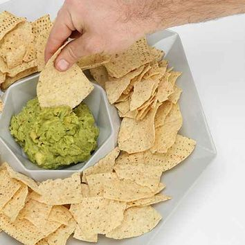 Faceted Chip & Dip Bowl-