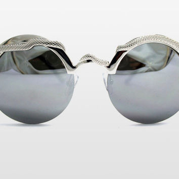 Silver Snake Mirrored Sunglasses by Spitfire