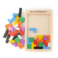 Wooden Colorful Tangram Brain Teaser Puzzle Tetris Game Educational Baby Kid Toy = 1946226692