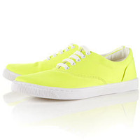TOFFEE Yellow Canvas Lace-ups - View All  - Shoes  - Topshop