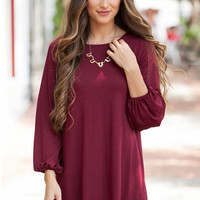 Long Sleeve A-Line Mini Dress