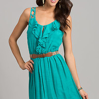 Belted Short Casual Dress by As U Wish