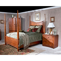 Chicago Bedroom Millennium Park Chestnut Burl Queen Poster Bed