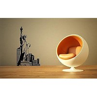 Wall Sticker Vinyl Decal Statue of Liberty New York USA Tourism Unique Gift ig1258