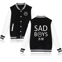 2017 Yung Lean Unknow Death Sad Boys Jacket Hoodies Men Women Streetwear Sad Boys Brand Casual Clothing Baseball Uniform 3xl