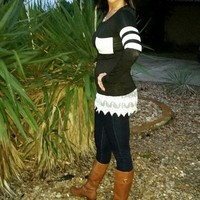 Black and white stripe top from Ritzy Gypsy Boutique