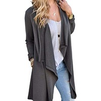 Women Long  Cardigan Style Open Shrug