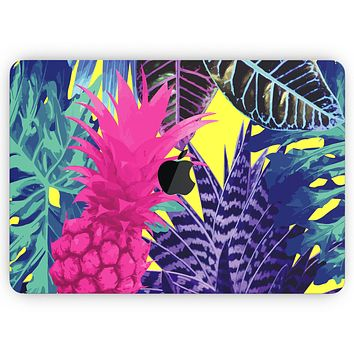 """Hype Flourescent Summer Pineapple Pattern - Skin Decal Wrap Kit Compatible with the Apple MacBook Pro, Pro with Touch Bar or Air (11"""", 12"""", 13"""", 15"""" & 16"""" - All Versions Available)"""