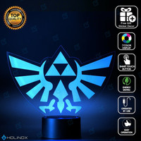 Legend of Zelda Triforce Lighting Decor Gadget Lamp + Sticker Decor for Perfect Set, Awesome Gift (MT022)