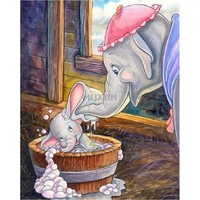 5D Diamond Painting Dumbo Bubble Bath Kit