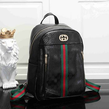 GUCCI Fashion Leather Daypack Travel Bag School Bag Bookbag Backpack