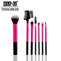 1Set/7pcs Professional Eye brushes set eyeshadow Foundation Mascara Blending Pencil brush Makeup tool Cosmetic For Women MAG025