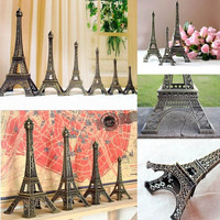 Bronze Tone Paris Eiffel Tower Figurine Statue Vintage Model Decor Alloy 4 Sizes = 1946040132