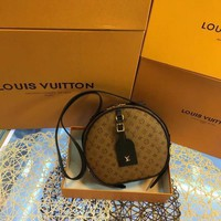 DCCK2 L038 Louis Vuitton LV Chapeau Souple Boite Chapeau Souple handbag 20-22.5-8cm Brown Black