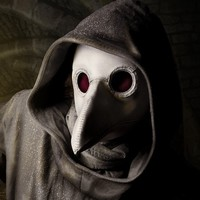 Plague Doctor's mask in white leather by TomBanwell on Etsy