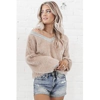 Shake It Off Fur Knit Top