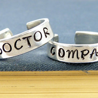 Doctor Who and Companion - Couples - Best Friends Ring Set