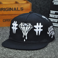 Black Hip Hop Style Embroidery Cap Hot Summer Gift 52