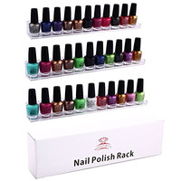 MAKARTT® 3 Tier Wall Mount Acrylic Nail Polish Rack Display Holder Organizer - Hold 33-45 Bottles