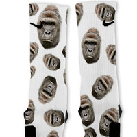 Harambe Gorilla Custom Nike Elite Socks