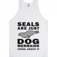 Seals are Just Dog Mermaids Unisex Tank Top