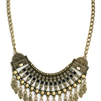 Gypsy Soul Statement Necklace in Gold