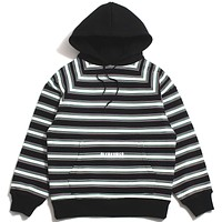 Lost Striped Hoodie Black