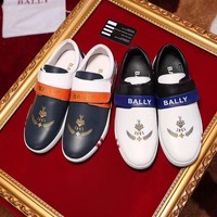 Bally Men's Leather Casual Low Top Sneakers Shoes