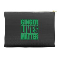 st patrick's day ginger lives matter Accessory Pouches