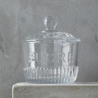 French Table Sugar Pot by Anthropologie in Clear Size: Sugar Serveware