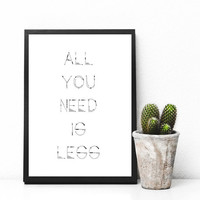 All you need is less, minimalistic home decor, Home art, Home decor, gallery wall, home poster, apartment decor, digital download,