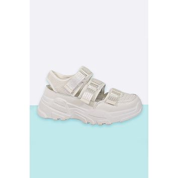 Yeah Right Velcro Cut Out Sneaker
