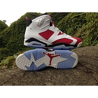 "Air Jordan 6 Retro ""Carmine"" Basketball Shoes 41-47"