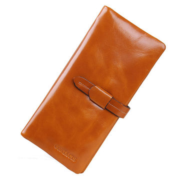 Ladies Leather Casual Big Capacity Wallet [9338153031]