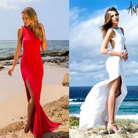 Party White Bandages Sexy Prom Dress = 5825602241