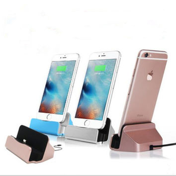 Phone Holder Charger Docking Stand Station Cradle Charging Sync Dock for iPhone 6 6S 6Plus 5S 5 5SE 7 7Plus