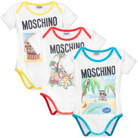 Moschino Baby 3-pack Rompers Gift Set