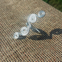 Silver Wire Swirl Ring