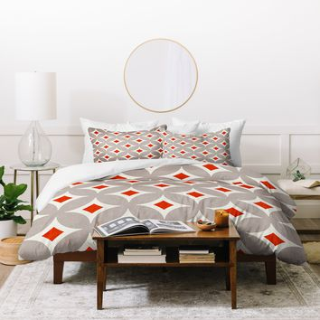 Holli Zollinger Vermillion Diamond Duvet Cover
