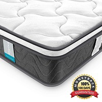 Full Mattress, Inofia 8 Inch Hybrid Innerspring Full Size Bed Mattress with Dual-Layered Breathable Cool Cover