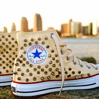 Spiked High-Top Converse
