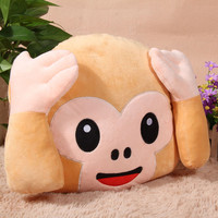 Soft Emoji Cartoon Monkeys Cushions Pillow Stuffed Plush Toy