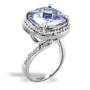 Cute Rings 5X012 Rhodium Brass Ring with AAA Grade CZ