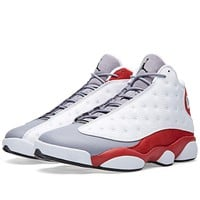Tagre™  Nike Mens Air Jordan 13 Retro Grey Toe Leather Basketball Shoes
