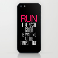 Run like Nash Grier is waiting at the Finish Line iPhone & iPod Skin by RexLambo