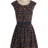 ModCloth Mid-length Cap Sleeves A-line Rainy Daydreaming Dress